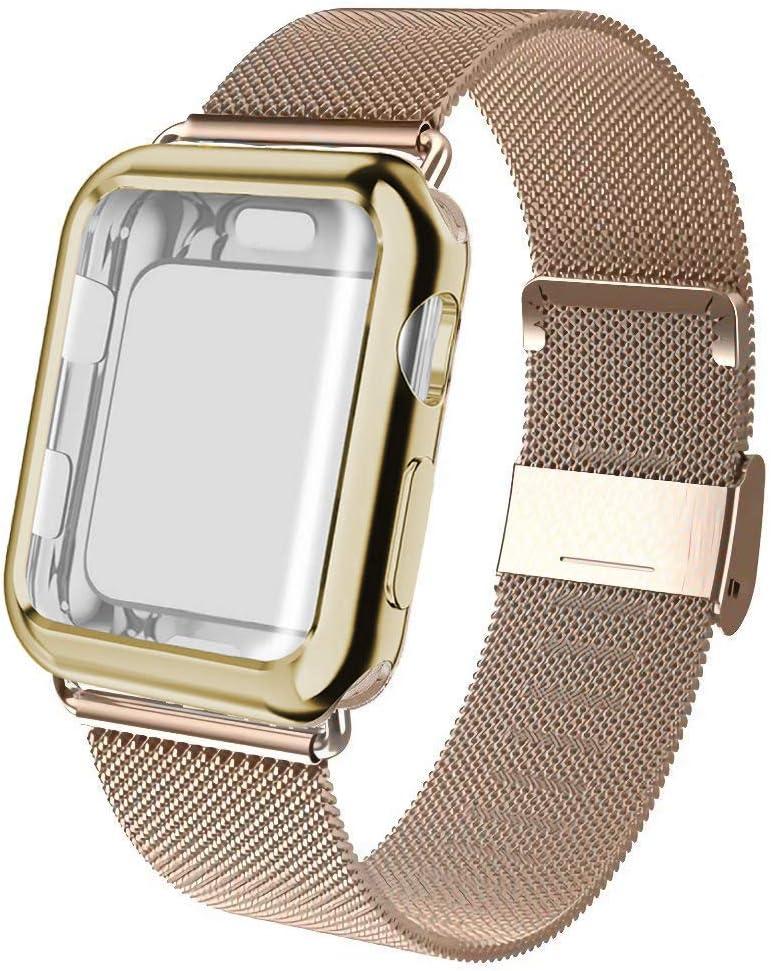 malla para apple watch 38 mm, dorado