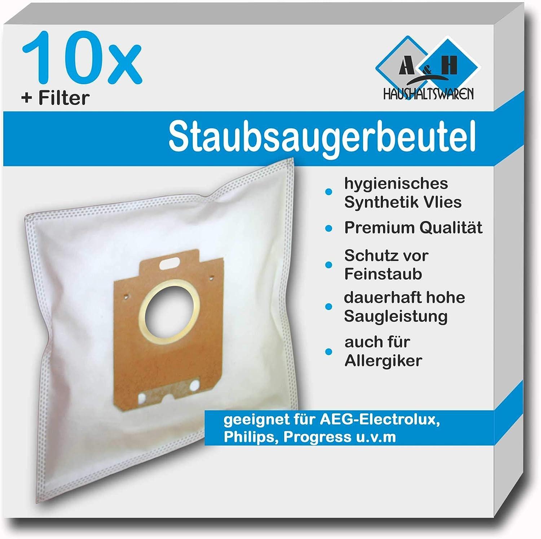 10 Staubsaugerbeutel SP49 geeig für Philips FC 8320//09 PowerLife