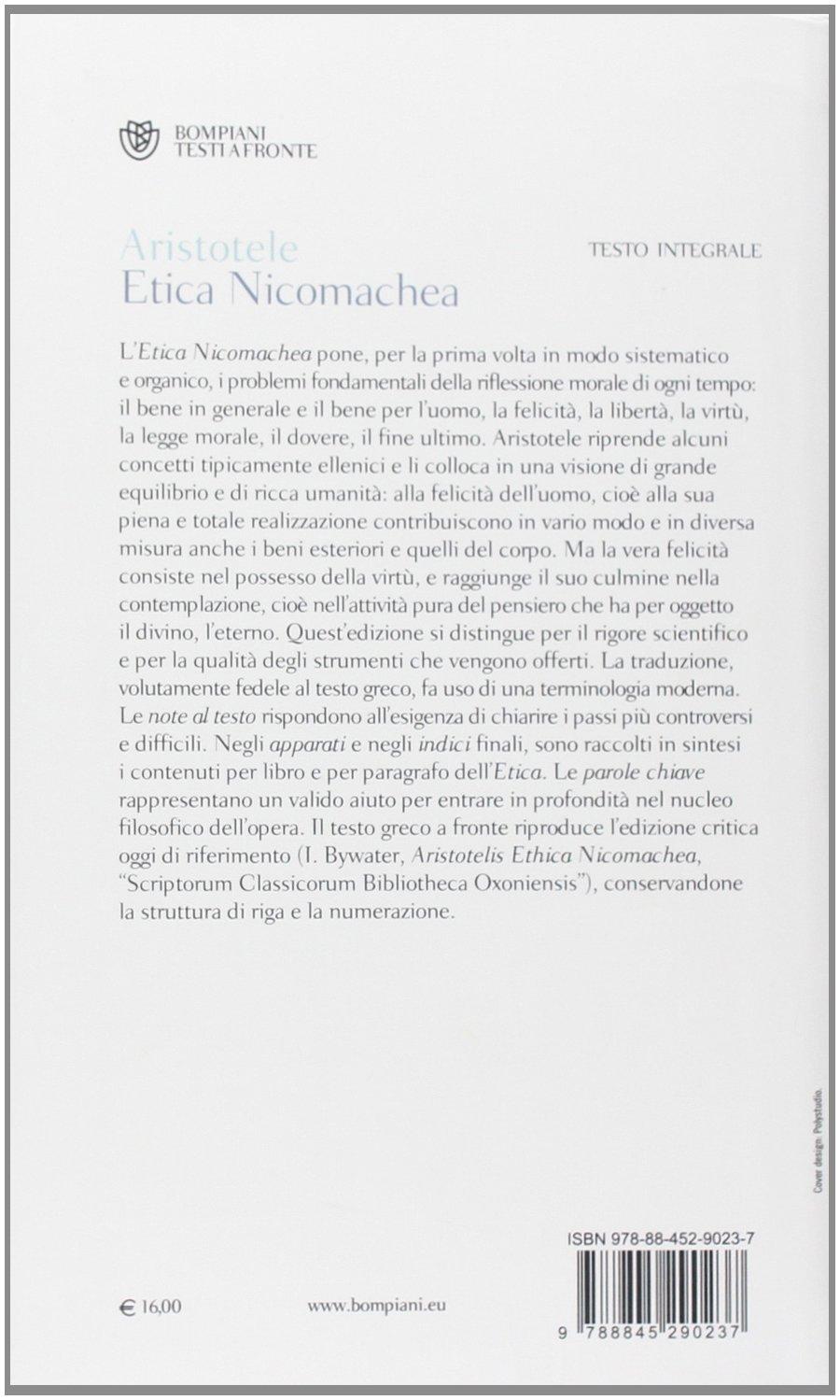 ETICA NICOMACHEA TESTO PDF