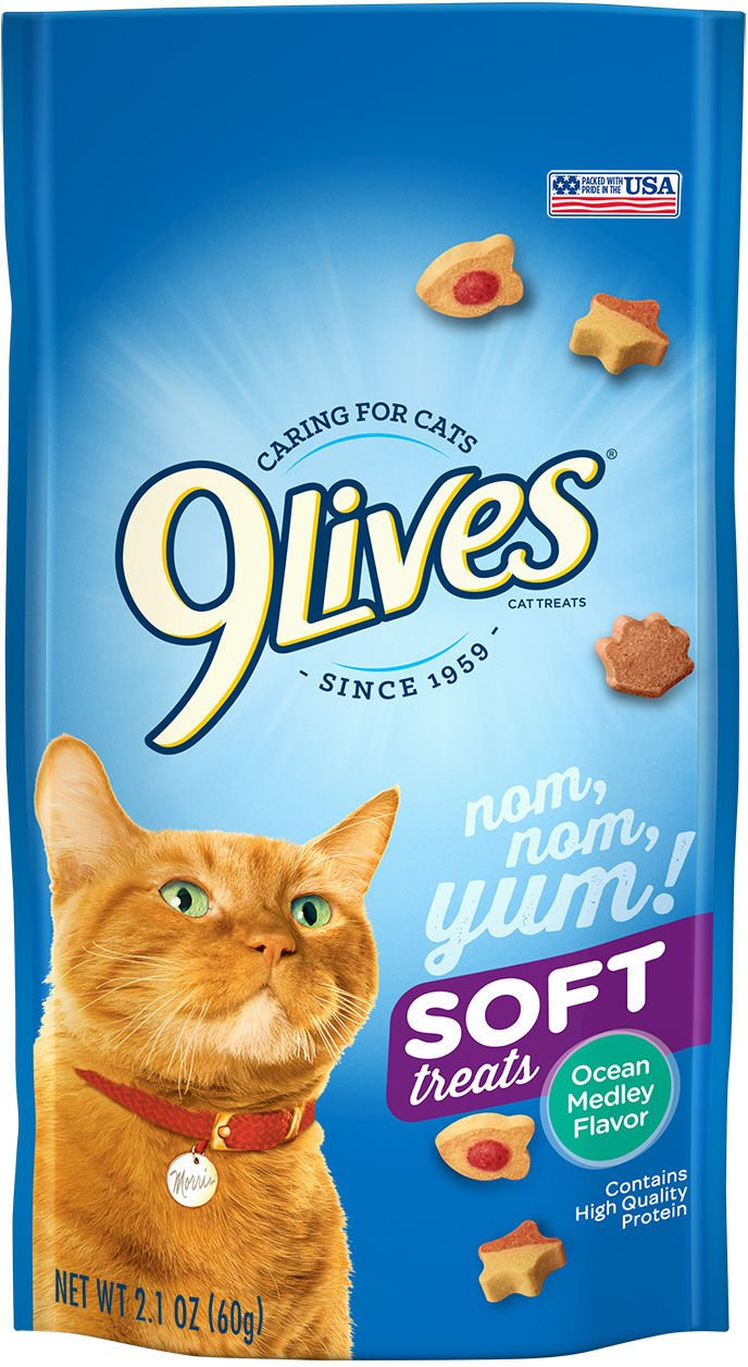 9Lives Soft Cat Treats, Ocean Medley Flavor, 2.1-Ounce Bag (Pack of 12)
