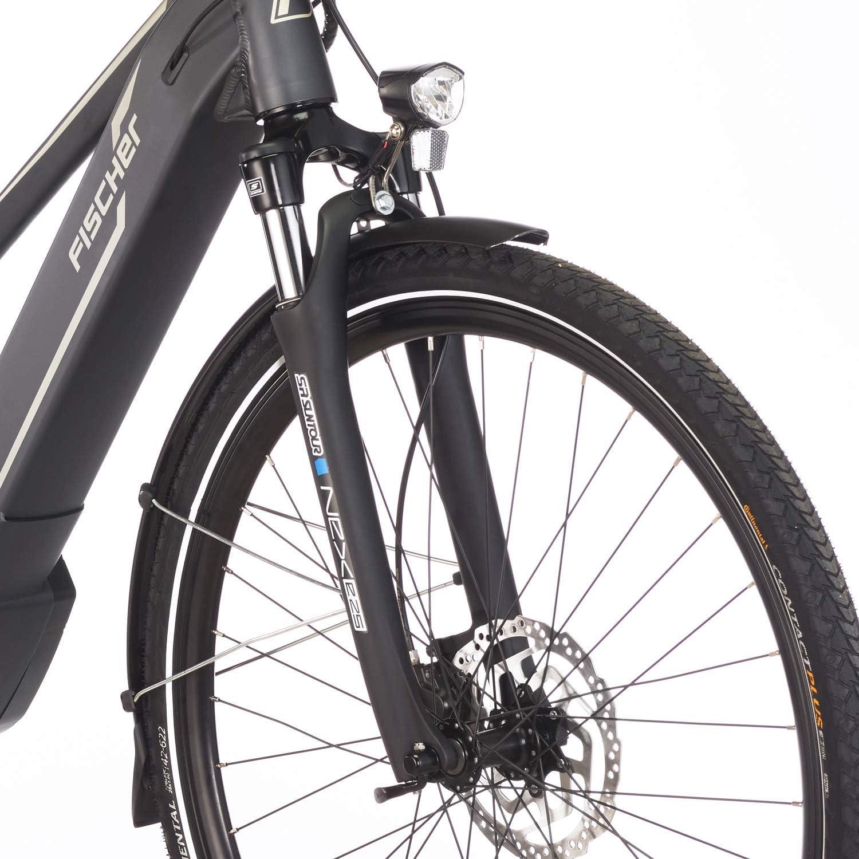 28 Zoll Brose Drive C Mittelmotor 50 Nm FISCHER Damen 36 V Akku grau matt E-Bike Trekking VIATOR 5.0i RH 44 oder 49 cm