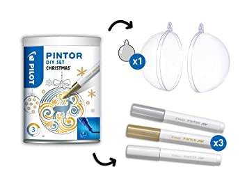 Kit Creation Boule De Noel.Pilot Pintor Set De 4 Kit Créatif Motif Boule De Noël Pointe