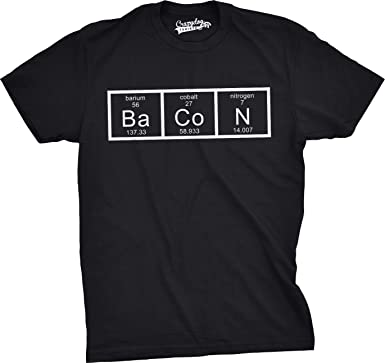 Crazy dog tshirts mens the chemistry of bacon t shirt funny brunch crazy dog tshirts mens the chemistry of bacon t shirt funny brunch periodic table science tee urtaz Gallery