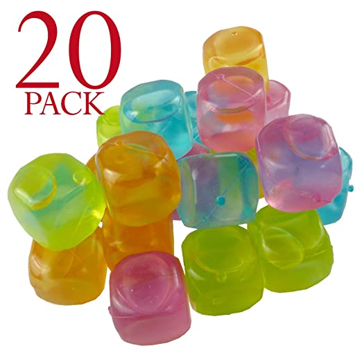 2 opinioni per Multi-coloured Reusable Ice Cubes For Cooling Your Drinks by Bid Buy Direct