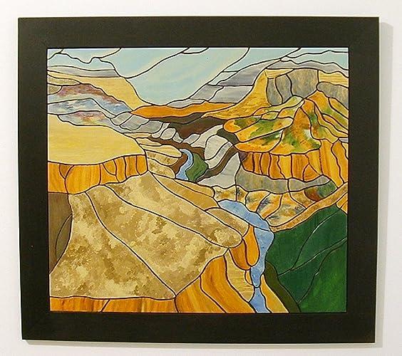Amazon.com: Grand Canyon, Abstract Wood Wall Art,: Handmade