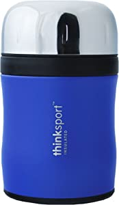 thinksport 12Oz (350ml) Insulated Food Container with Spork - Coated Blue