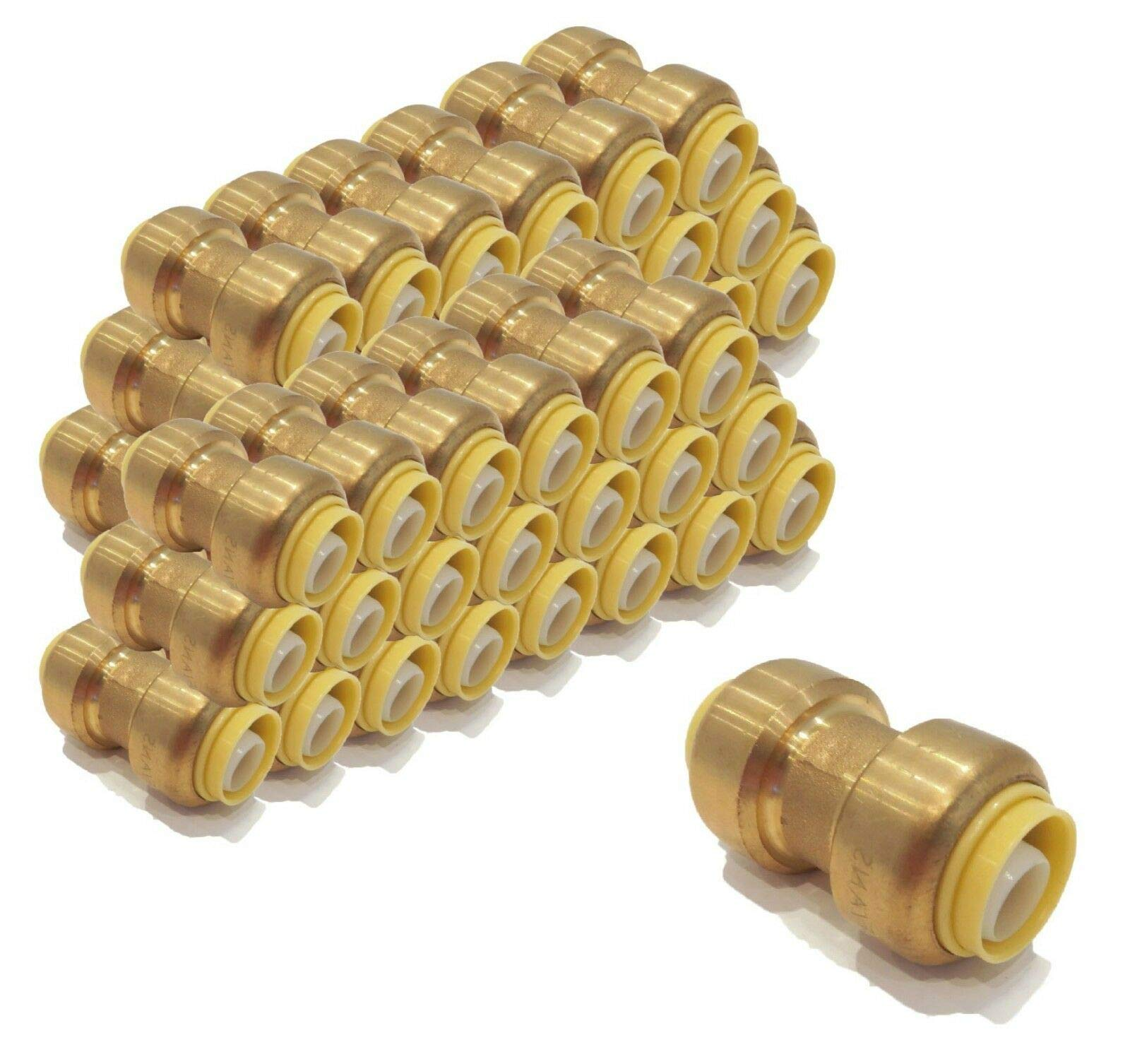 | (Pack of 200) 1/2 inch x 1/2 inch Coupling Connect Fittings, Lead Free Brass by The ROP Shop (Image #1)