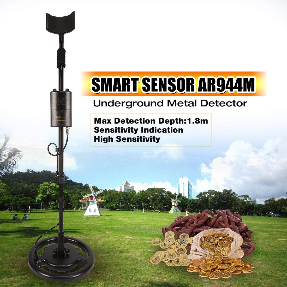 Formulaone Smart Sensor AR944M Detector de Metales subterráneo Profesional Buscador de Plata Dorado Ajustable Buscador de Tesoros Buscador de 1.8m de ...