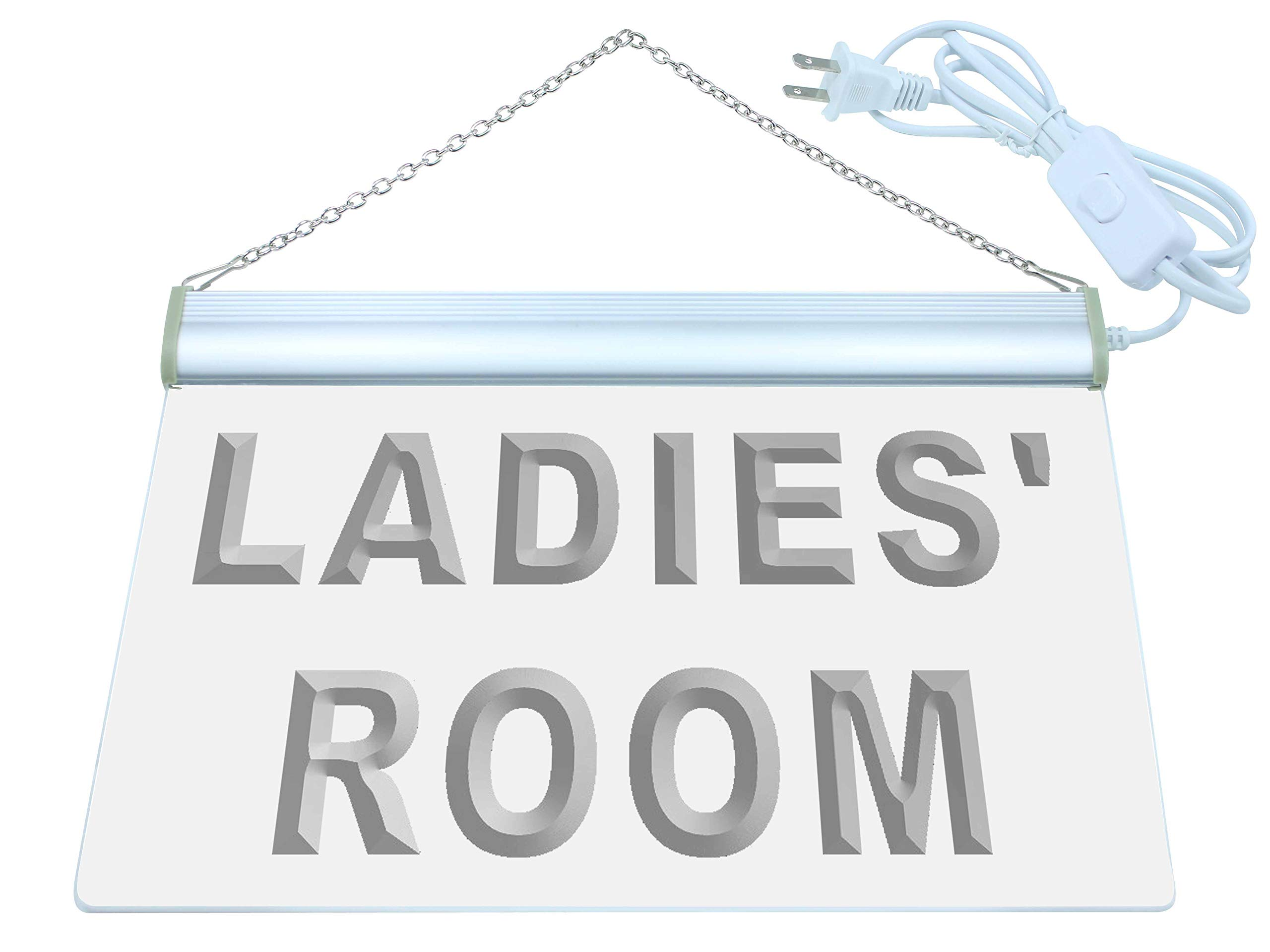 ADV PRO i630-b LADIES' ROOM TOILET Washroom Neon Light Sign