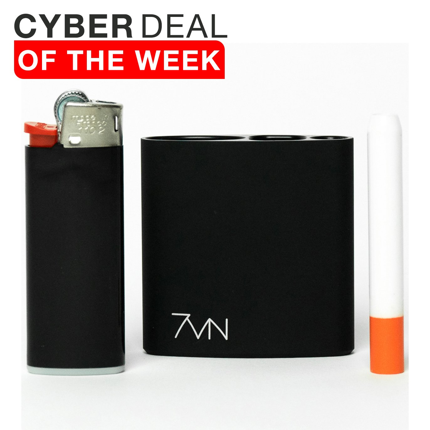 7vn - All in One Smell Proof Case Machined Anodized Aluminum (Matte Black)