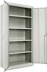 "Alera ALECM7218LG Assembled 72"" High Storage Cabinet, w/Adjustable Shelves, 36w x 18d, Light Gray"