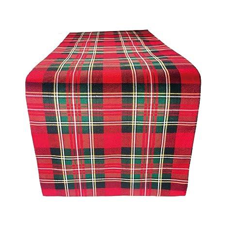 Amazon.com: Awilon - Camino de mesa, color rojo y verde ...