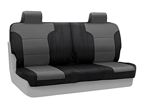 Cool Coverking Custom Fit Front Split Bench Seat Cover For Select Ford F 150 Models Spacermesh Gray Machost Co Dining Chair Design Ideas Machostcouk