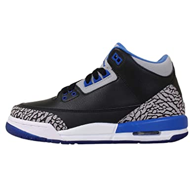36b5c79d2afee1 Nike Air Jordan 3 Retro BG  398614-007  Kids Basketball Shoes Black