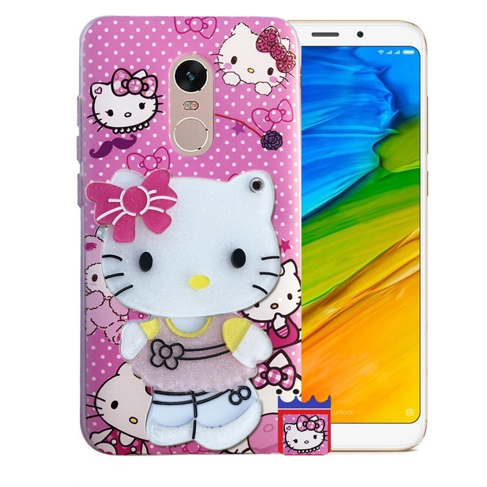 f9809e89211 Aarnik 3D Designer Makeup Mirror Hello Kitty Back Cover  Amazon.in   Electronics