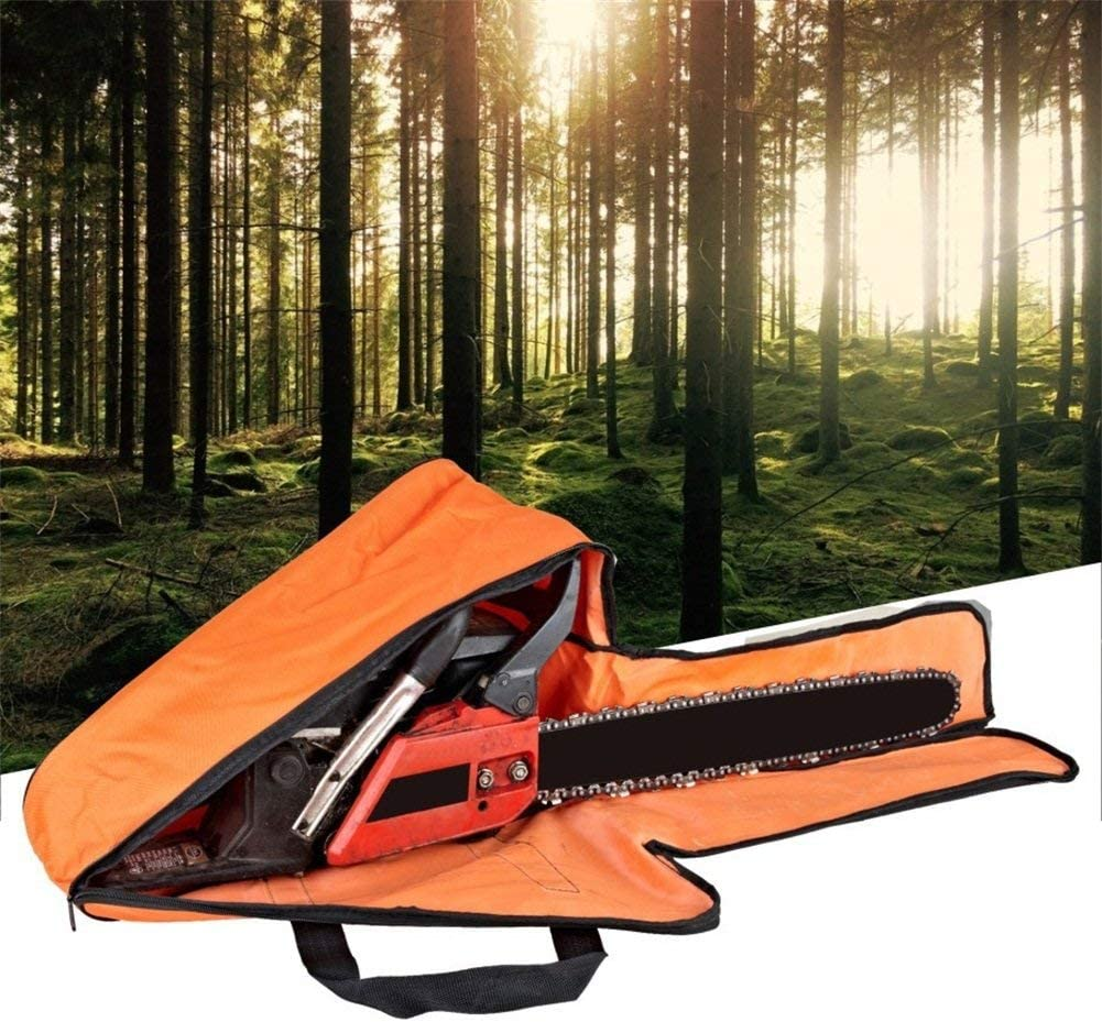 Full Protection Heavy Duty Woodworking Tools Bag with Carry Handles Lumpna 22 Inch Chainsaw Chain Case Waterproof Oxford Portable Chainsaw Carrying Bag