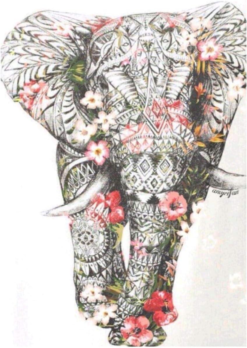 DIY Full Drill 5D Elephant Diamond Painting Embroidery Arts Craft Home Decor