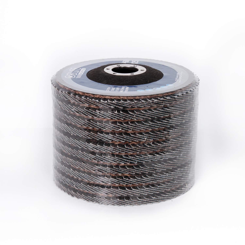CCLIFE Lot de 10 Disques Abrasifs /à Lamelles 125 mm Couleur:P80 Grain P80 P120