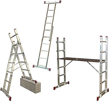 Krause 082107 - Escalera con ruedas (2 x 7 pivotes): Amazon.es: Bricolaje y herramientas