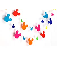 Rainbow Mickey Mouse Paper Garland Party Decorations - marriage decoration items,birthday decorations items,birthday decoration material,birthday decorations,Birthday Party Decorations,Paper Garland, Birthday Party Garland.