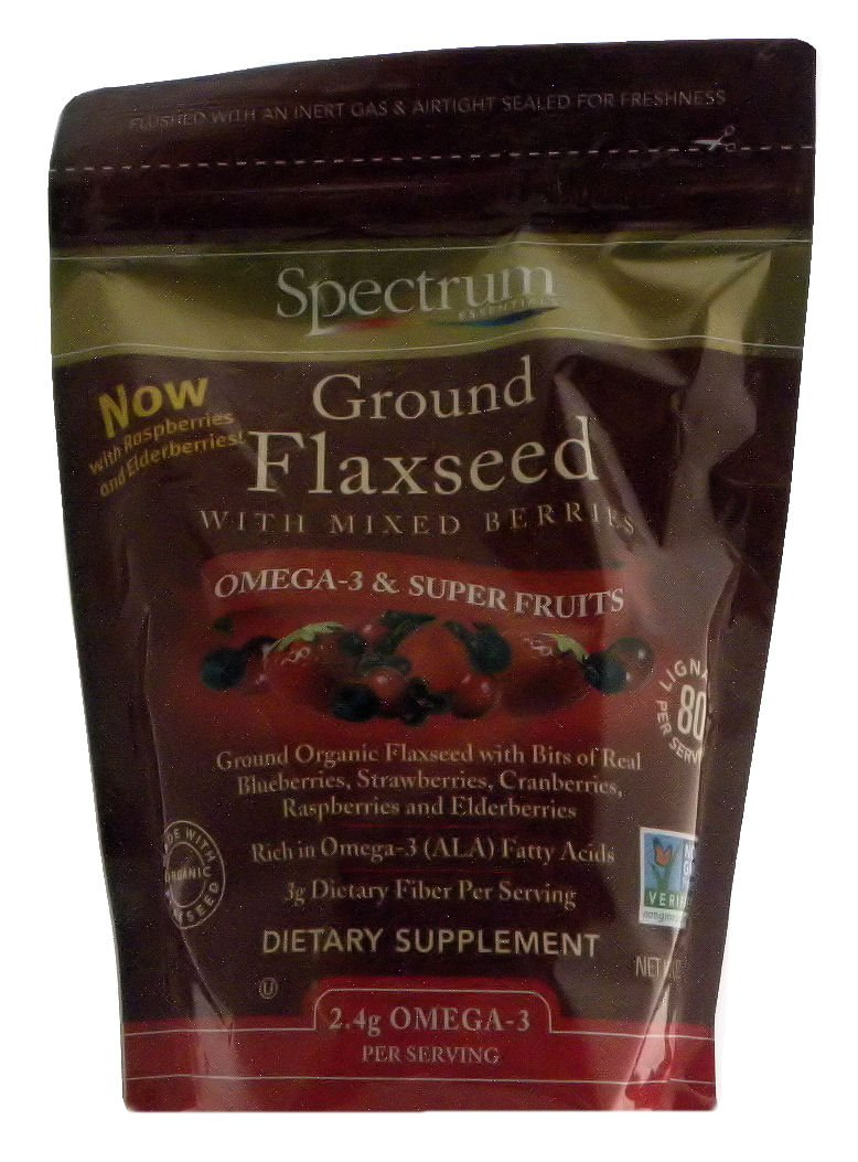 Spectrum Ground Flaxseed with Mixed Berries - NOW with Super Fruits Raspberries and Elderberries! 2-Pack (12-oz. ea.)