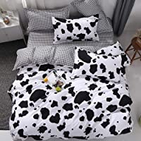 Vefadisa Cow Comforter Sets Full with 1 Comforter Cover 1 or 2 Pillow Covers 1 Flat Sheet-3 or 4pcs with Print Pattern…