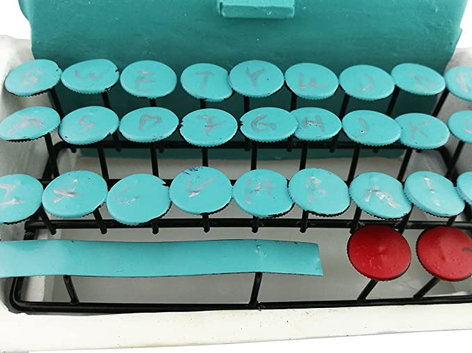 Amazon.com: Winterworm Creative Vintage Resin Metal Green Old-fashioned Typewriter Model Display Decoration Home Bar Retro Ornament Birthday Christmas ...
