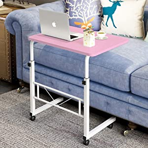 Home Tray Table Stand, Height Adjustable Sofa Side Table End Table C Table Coffee Tray Bedside Table Laptop Holder End Stand Desk (23.6