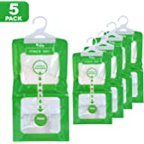Moisture Absorber and Odor Eliminator Packets for Closet, Cars, Wardrobes, Basement, Gym Bag| Rid of Damp in Shoe…