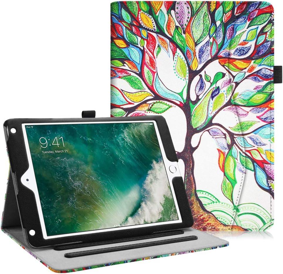 Fintie Case for iPad 9.7 2018 2017 / iPad Air 2 / iPad Air - [Corner Protection] Multi-Angle Viewing Folio Cover w/Pocket, Auto Wake/Sleep for iPad 6th / 5th Gen, iPad Air 1/2, Love Tree