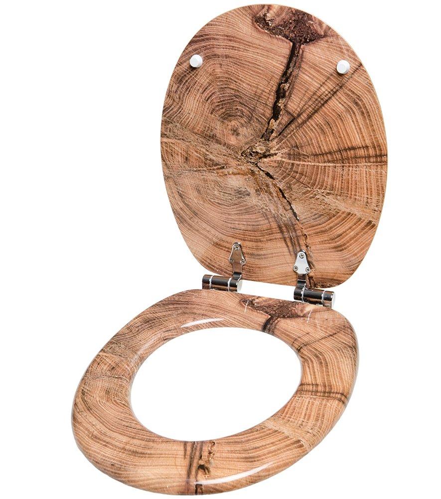 gran selecci/ón de atractivos asientos de inodoro con calidad superior y duradera de madera Asiento para inodoro de cierre suave Bamb/ú