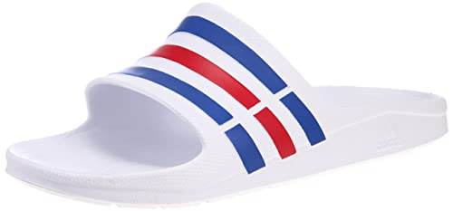 detailed look 99c53 da684 adidas Duramo Slide - Chaussures de Sports Aquatiques - Homme - Blanc  (WhiteTrue