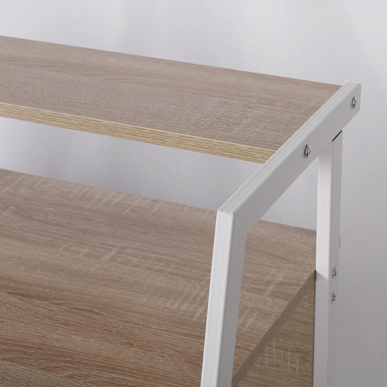 BxTxH Gestell aus Stahl Holz mit Ablage WOLTU Schreibtisch TSG20hei Computertisch Bürotisch Arbeitstisch PC Laptop Tisch 112x56x90cm Eiche