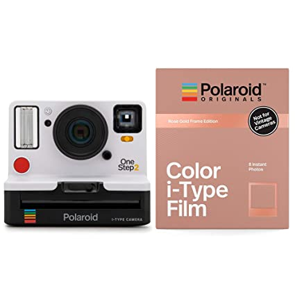 Amazon.com   Polaroid Originals 9008 OneStep 2 VF Instant Film Camera  (White) with 4832 Color i-Type Film Rose Gold Edition   Camera   Photo 5ab2a75aece9