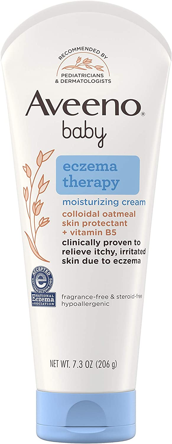Aveeno Baby Eczema Therapy Moisturizing Cream with Natural Colloidal Oatmeal for Eczema Relief, 7.3 oz: Health & Personal Care