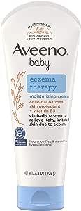 Aveeno Baby Eczema Therapy Moisturizing Cream For Dry Skin, 7.3 Oz.