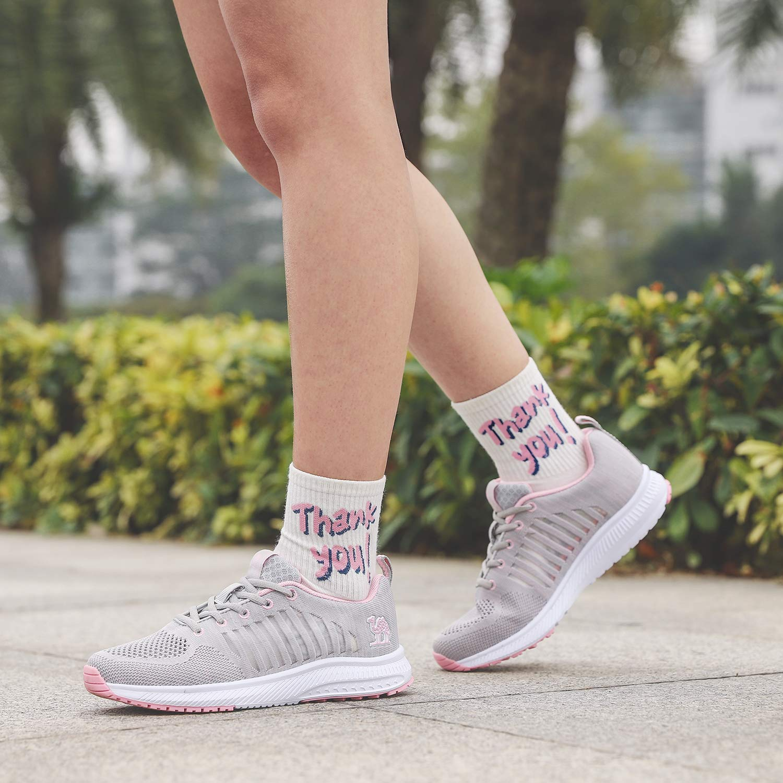 CAMEL CROWN Zapatos de Correr para Mujeres Zapatillas de Deporte Tenis Deportes Caminar Informal Fitness f/ísico Zapatillas de Malla para Interiores y Exteriores