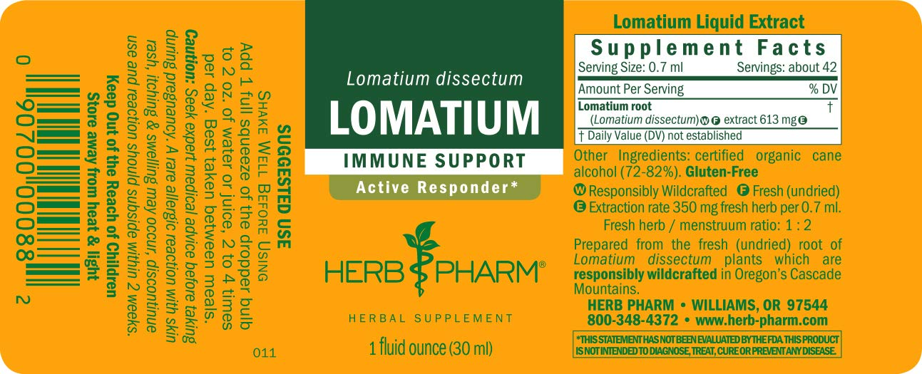 Herb Pharm Lomatium Liquid Extract for Immune System Support - 1 Ounce