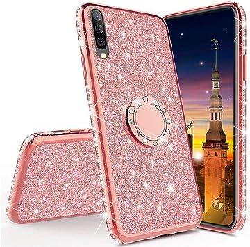 MRSTER Funda para Samsung Galaxy A70, Glitter Bling TPU Bumper ...