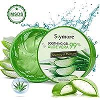 Skymore Aloe Vera Gel 300 ml, fuktgivande för ansikte och kropp, Aloe Vera Cream för torr, stressad hud och solbränna