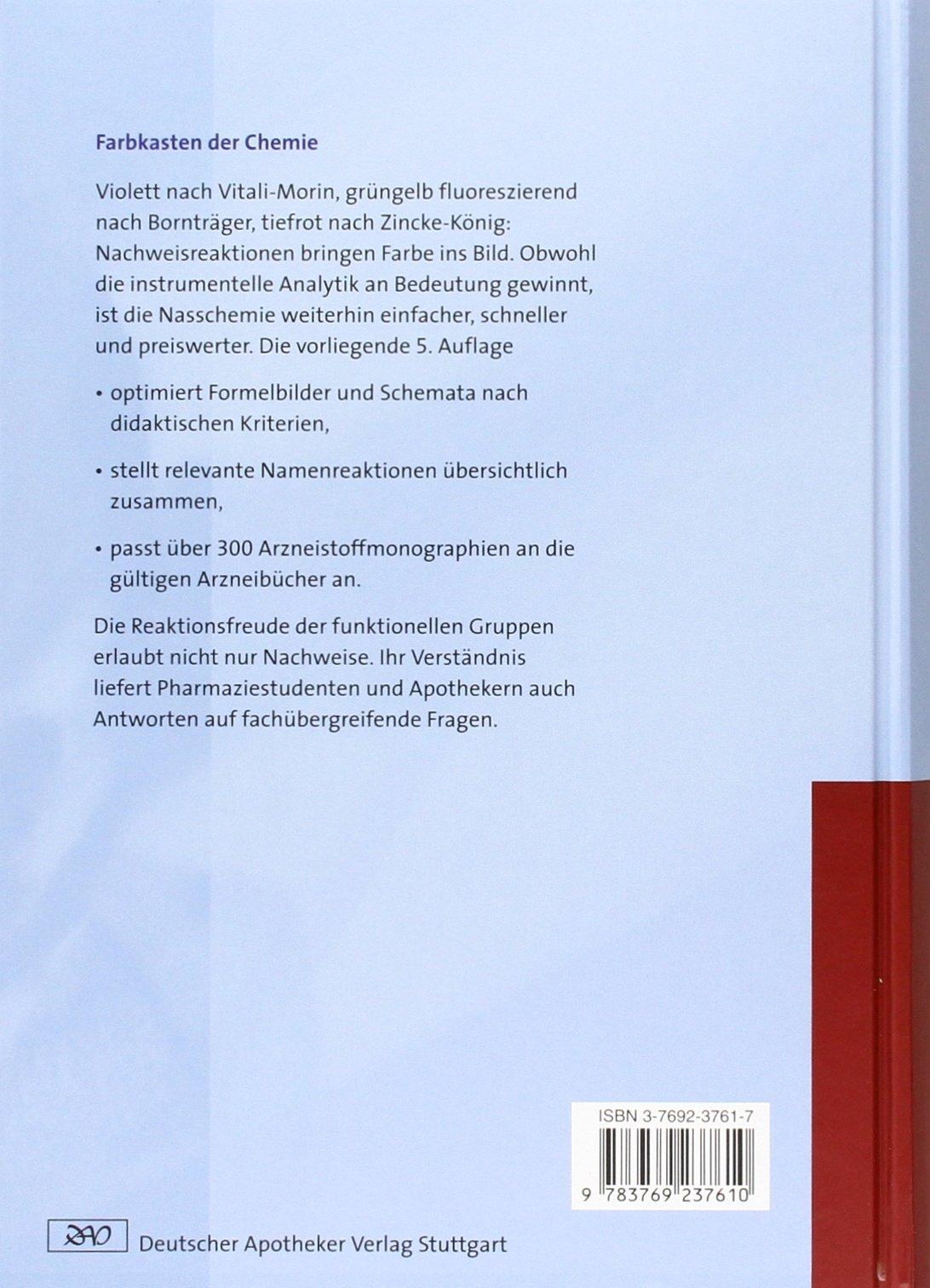 Arzneistoffanalyse: Reaktivität - Stabilität - Analytik Wissen und ...