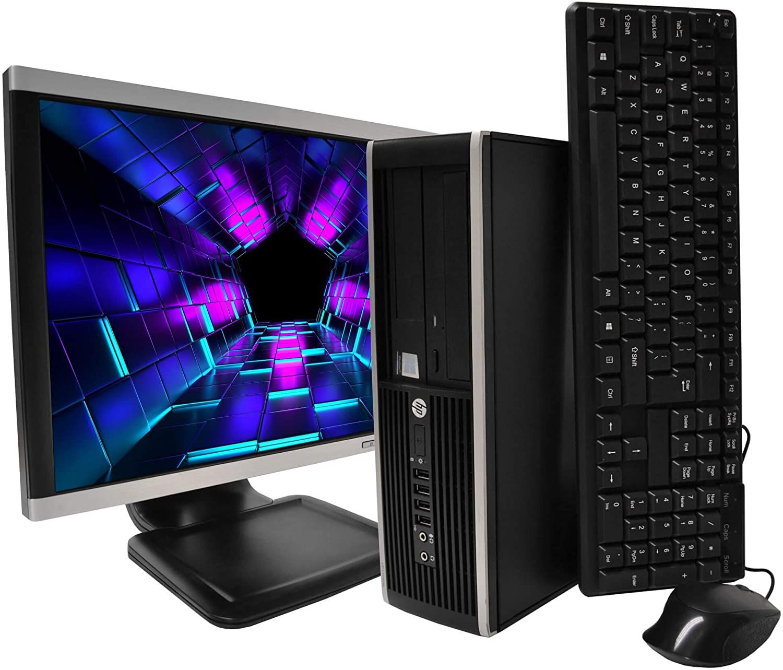HP 8300 Elite Desktop Computer PC Intel Core i5 3.1-GHz, 8 gb Ram, 1 TB Hard Drive, DVDRW, 17 inch LCD Monitor, Keyboard, Mouse, WiFi, Windows 10 Home (Renewed)