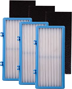 Hongfa AER1 HEPA Type Total Air Purifier Filter for Holmes, HAPF30AT Filter Comparible with Holmes HAPF30AT Air Purifier (3 HEPA Filter+3 Carbon Filters)