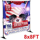 Topeakmart Black 8' x 8' Trade Show Banner Stand