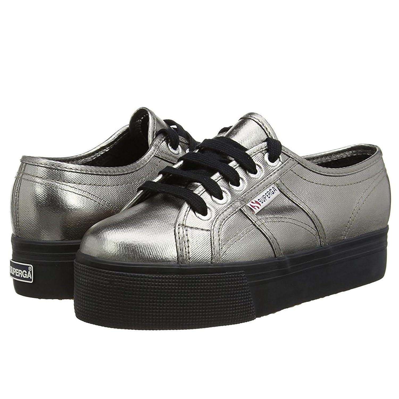 Superga Damen 2790 Cotmetw Sneaker, Schwarz Grau Schwarz Sneaker, 0e17b5
