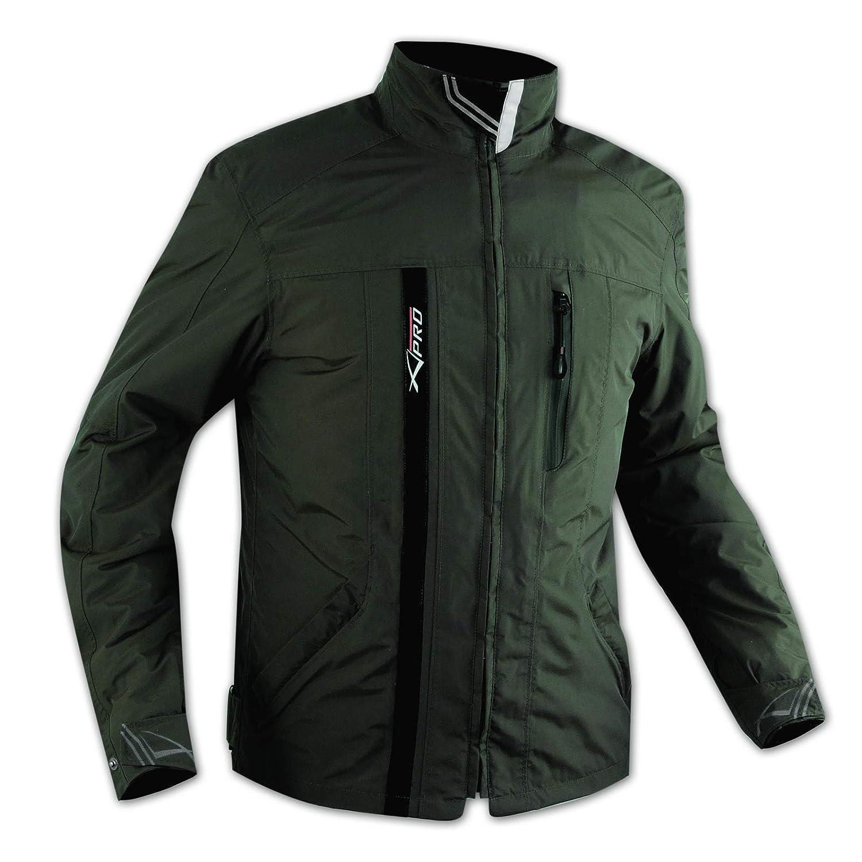 A Pro, tessile, impermeabile, protezioni CE, fodera termica, giacca per moto nera, XL