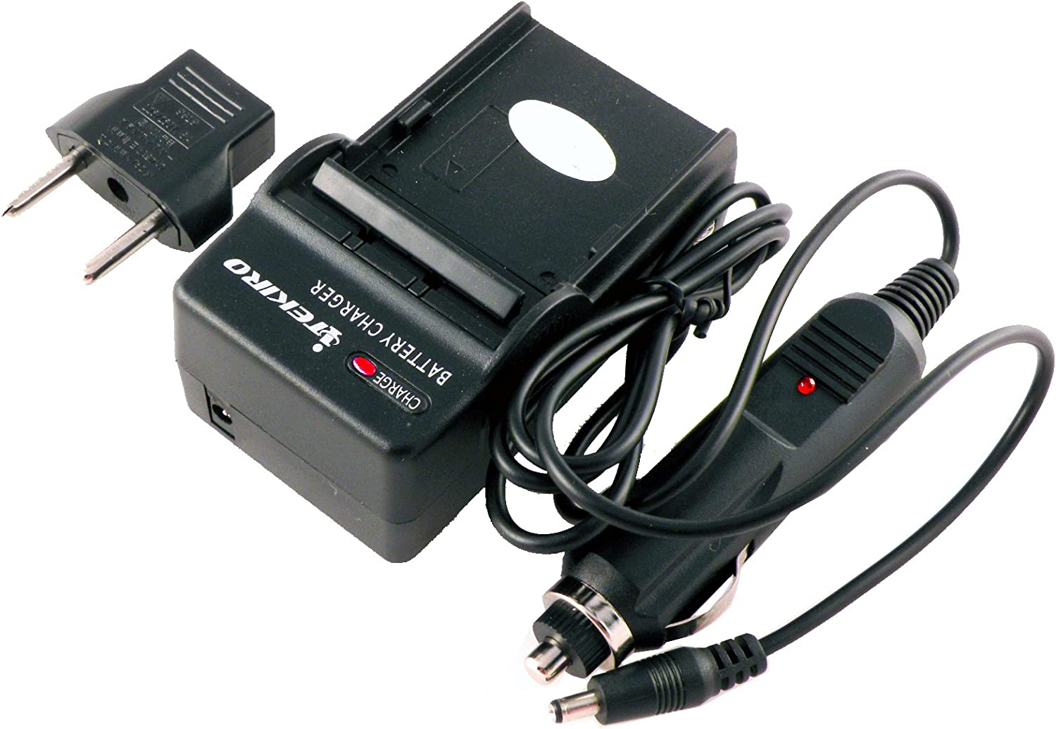 DIGI TECH Replacement Wall + Car Battery RAPID Charger Kit for HP PhotoSmart R742