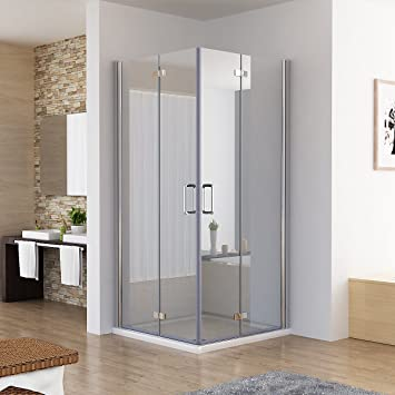 Duschkabine Eckeinstieg Dusche Falttür 180º Duschwand ...