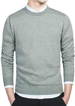 Jerseys de suéter de algodón para Hombre Jerseys de Cuello Redondo ...