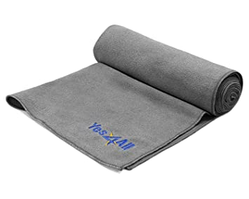Yes4All Non-Slip Microfiber Yoga Towel for Hot Yoga, Mat Size, 100% Absorbant, Quick-Dry